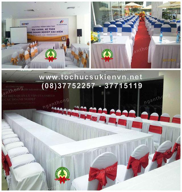 Các mẫu bàn ghế tổ chức sự kiện thông dụng nhất 2
