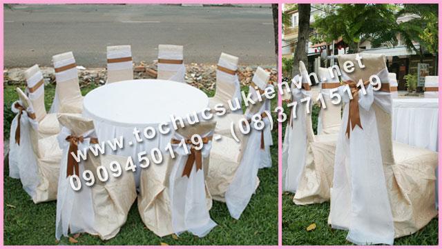Cho thuê bàn ghế tiệc cưới 2