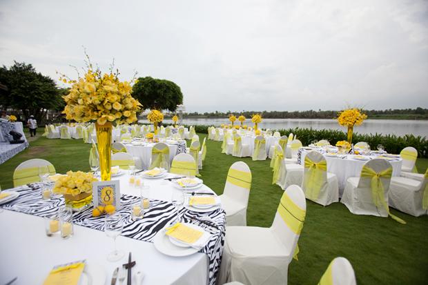 thiết kế tiệc cưới ngoài trời