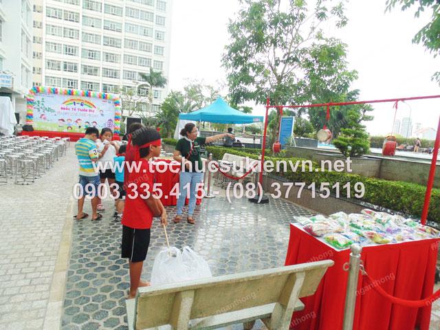 Tổ chức tiệc 1/6 tại Cao ốc Phú Hoàng Anh