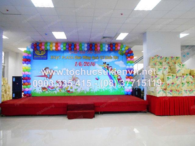 Cho thuê bàn ghế tổ chức chương trình  1/6 HQC Plaza  3
