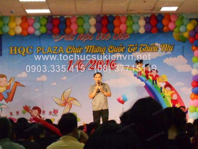 Cho thuê bục sân khấu tổ chức chương trình  1/6 HQC Plaza