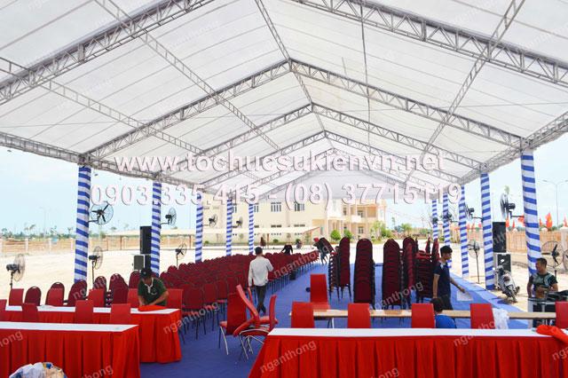 Cho thuê bàn ghế tại lễ khởi công Dona Corp