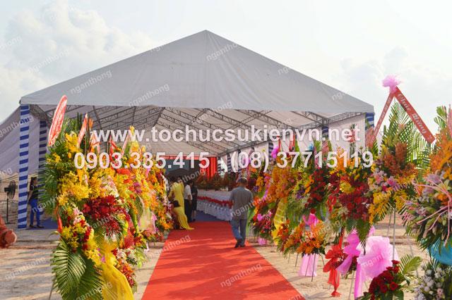Cho thuê sân khấu tại lễ khởi công Dona Corp 2