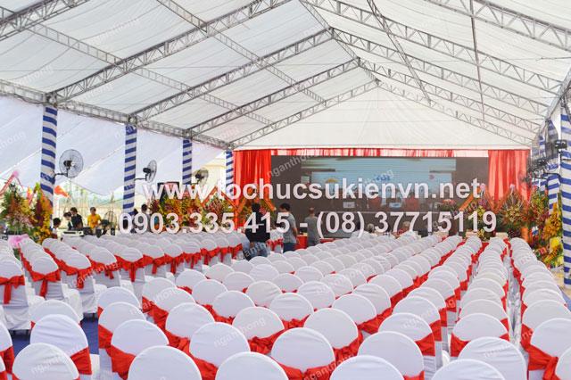 Cho thuê sân khấu tại lễ khởi công Dona Corp 3