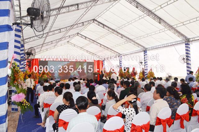 Cho thuê sân khấu tại lễ khởi công Dona Corp 4