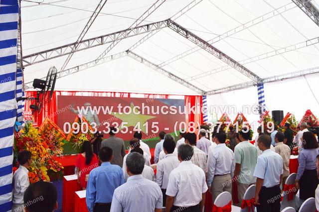 thiết kế sân khấu ngoài trời tại lễ khởi công Dona Corp  4