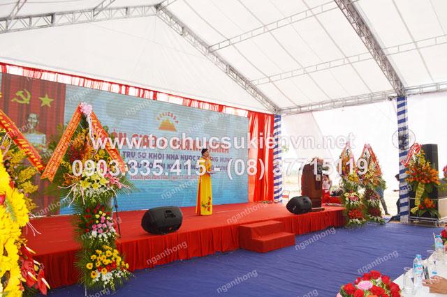 thiết kế sân khấu ngoài trời tại lễ khởi công Dona Corp  6