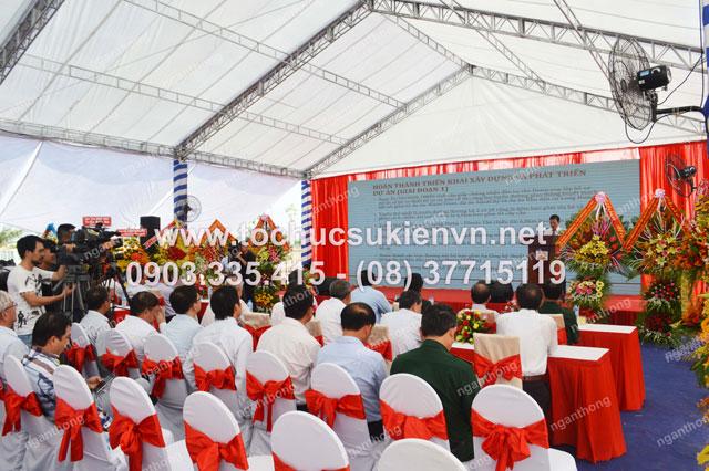 thiết kế sân khấu ngoài trời tại lễ khởi công Dona Corp  10