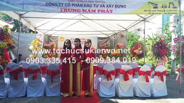 Cho thuê bàn ghế khai trương Trung Nam Phát 3