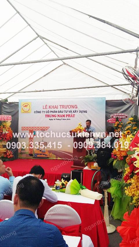 Cho thuê bàn ghế khai trương Trung Nam Phát 6