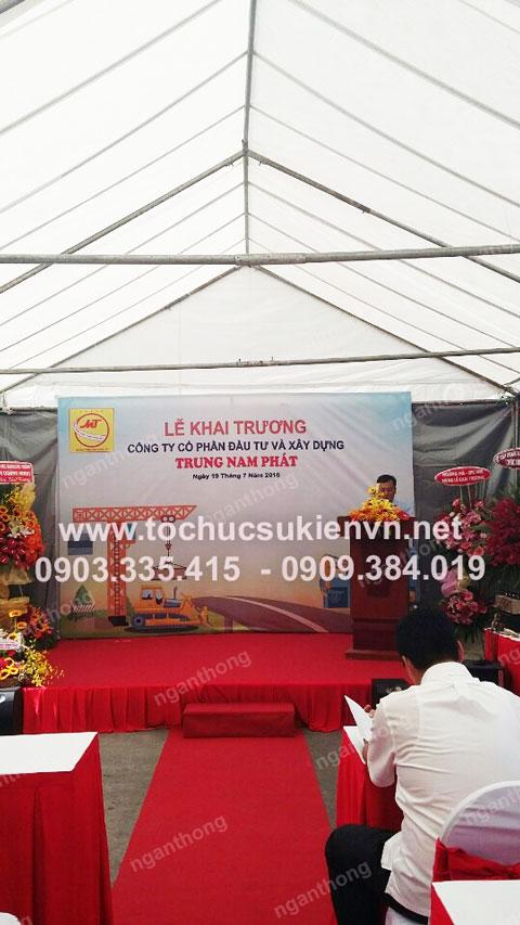 Cho thuê bàn ghế khai trương Trung Nam Phát 8