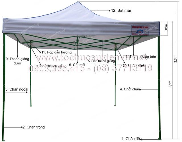 Cho thuê lều xếp – nhà lều ngoài trời 2