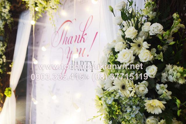 Thiết kế backdrop sự kiện lễ khai trương Anna Spa 3