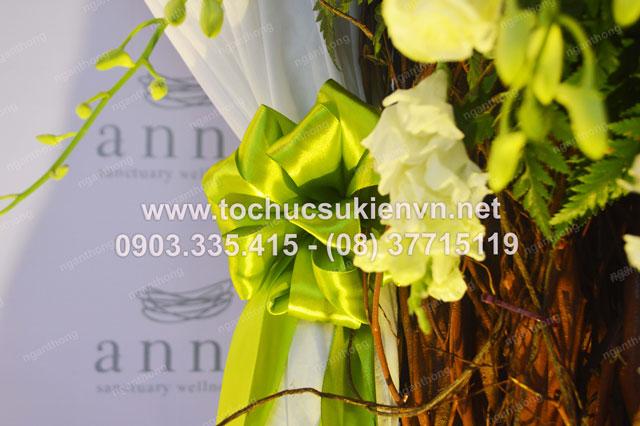 Thiết kế backdrop sự kiện lễ khai trương Anna Spa 4