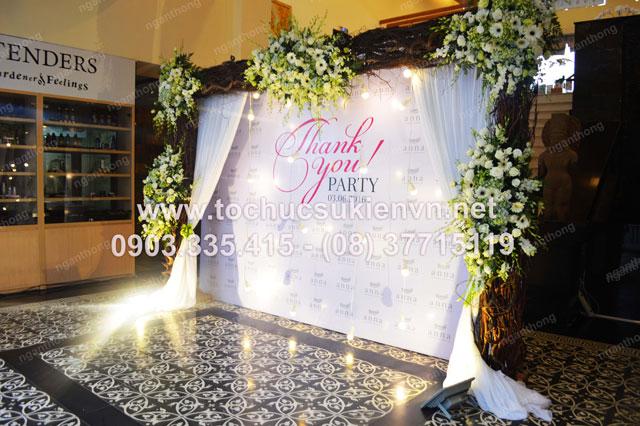 Thiết kế backdrop sự kiện lễ khai trương Anna Spa 7