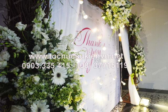 Thiết kế backdrop sự kiện lễ khai trương Anna Spa 8