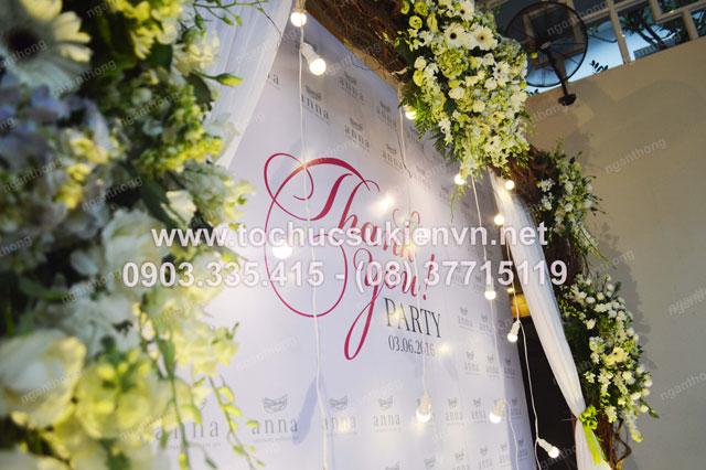 Thiết kế backdrop sự kiện lễ khai trương Anna Spa 9