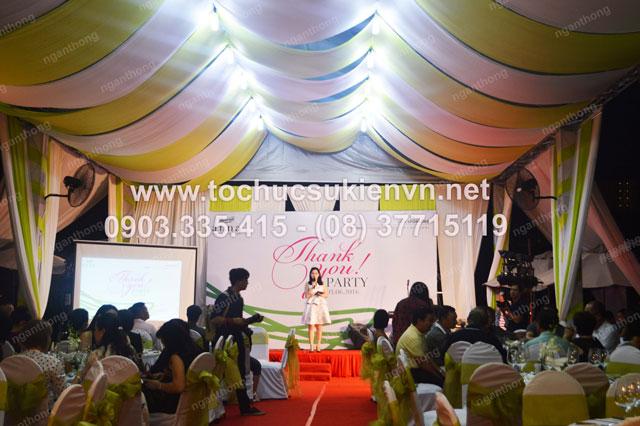 Thiết kế sân khấu ngoài trời - Ngàn Thông tại lễ khai trương Anna Spa 3