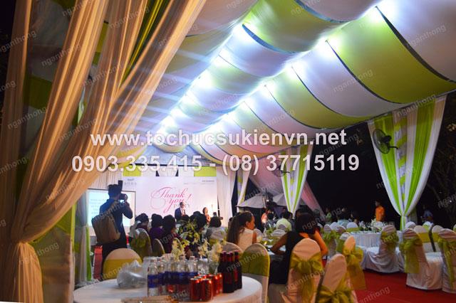 Thiết kế sân khấu ngoài trời - Ngàn Thông tại lễ khai trương Anna Spa 4