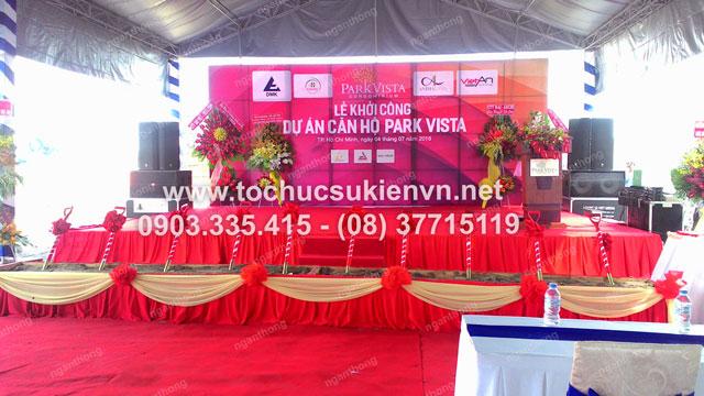 Cho thuê bàn ghế ngoài trời tổ chức lễ động thổ Park Vista 8