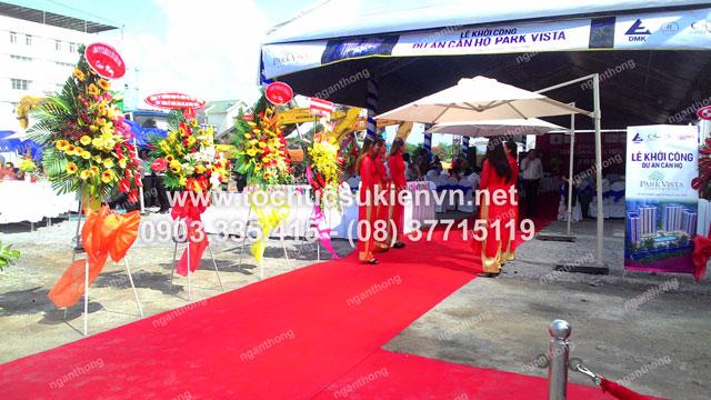 Cho thuê lễ tân tổ chức lễ động thổ Park Vista  2