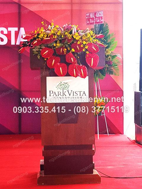 Cho thuê bục sân khấu tổ chức lễ động thổ Park Vista