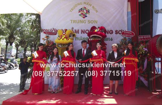 Tổ chức lễ khai trương trường mầm non Trung Sơn 1