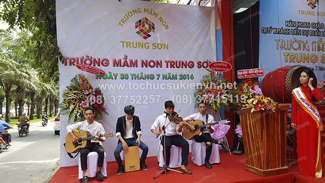 Tổ chức lễ khai trương trường mầm non Trung Sơn 8