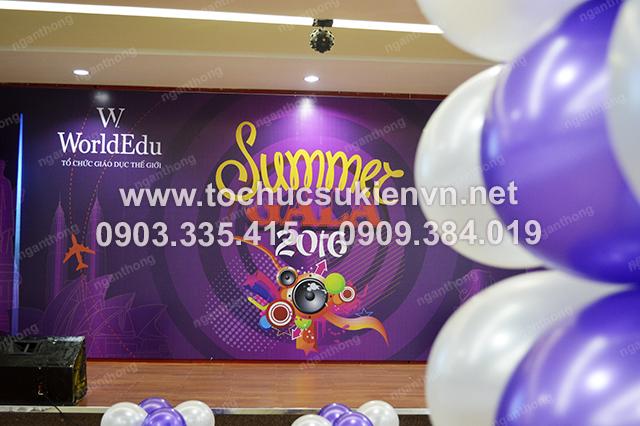 Ngàn Thông - thiết kế backdrop tổ chức hợp mặt summer gala 2