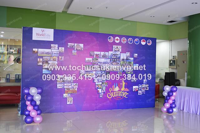 Ngàn Thông - thiết kế backdrop tổ chức họp mặt summer gala 6
