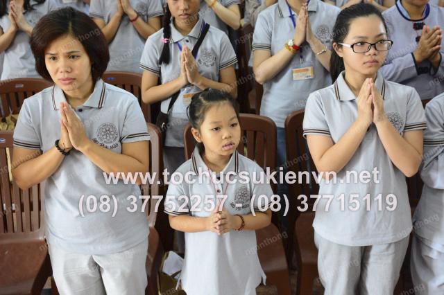 tổ chức sự kiện khóa tu chùa Giác Ngộ 11