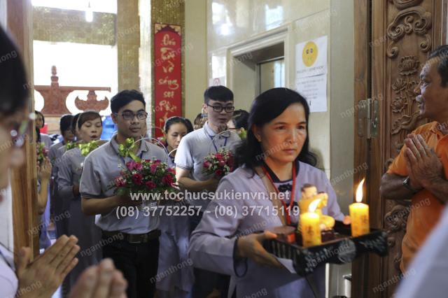 tổ chức sự kiện khóa tu chùa Giác Ngộ 14