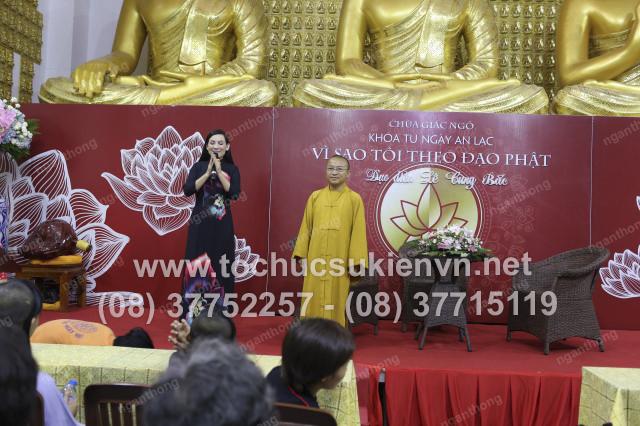 tổ chức sự kiện khóa tu chùa Giác Ngộ 8