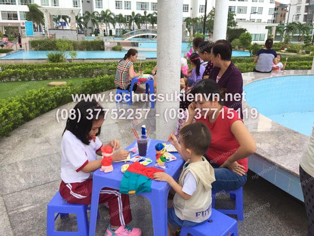 Tổ chức trung thu tại chung cư cao cấp Giai Việt 11