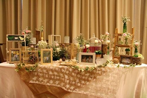 bàn gallery tiệc cưới