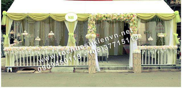 Cho thuê khung rạp đám cưới đẹp tphcm