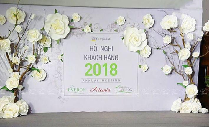backdrop sự kiện hội nghị khách hàng